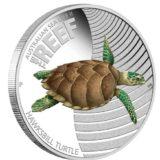Морская жизнь Австралии: Черепаха — Австралия — 2011 — серебряная монета