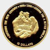 Миллениум: встреча нового тысячелетия — Ниуэ — золотая монета