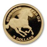 Лошадь — Тувалу — золотая монета