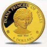 Леди Диана принцесса Уэльская — Острова Кука — памятная золотая монета