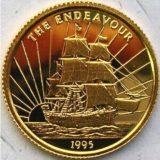 Корабль «Индивор» — Самоа — золотая монета