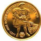 Король Генрих VIII — Фольклендские острова — золотая монета