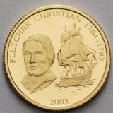 Кристиан Флетчер (корабль) — Самоа — памятная золотая монета