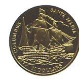 Корабль Колумба «Санта Мария» — Фиджи — золотая монета