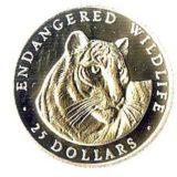 Тигр — Острова Кука — золотая монета