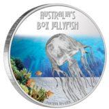 Опасные животные — Австралийская медуза — 2011 — Тувалу — серебряная монета