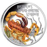 Опасные животные — Скорпион — 2014 — Тувалу — серебряная монета