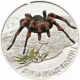 Опасные насекомые мира — Мексиканский тарантул — Ниуэ — серебряная монета