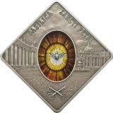 Святые окна: Собор Святого Петра в Ватикане — Палау — 2011 — серебряная монета с витражным стеклом
