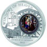 Небесные окна: Церковь Св. Екатерины (Вифлеем) — Острова Кука — 2012 — серебряная монета