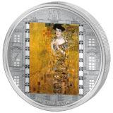 Шедевры мирового искусства — Портрет Адели (Густав Климт) — Острова Кука — серебряная монета