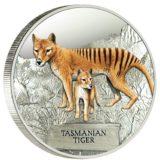 Тасманийский тигр — Тувалу — 2011 — серебряная монета