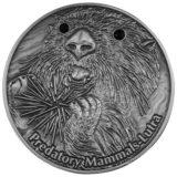 Хищные млекопитающие: Выдра — Фиджи — 2012  — серебряная монета с кристаллами