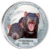 Тасманийский дьявол — Тувалу — 2013 — серебряная монета