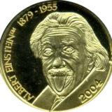 Альберт Эйнштейн (1879-1955) — Марианские острова — памятная золотая монета