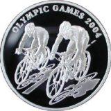 Велоспорт, Казахстан, 100 тенге — серебряная монета