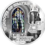Небесные окна: Церковь Св. Франциска (Краков) — Острова Кука — 2012 — серебряная монета
