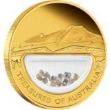 Сокровища Австралии 2009 год — золотая монета с россыпью бриллиантов