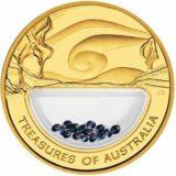 Сокровища Австралии 2007 года — золотая монета с россыпью сапфиров