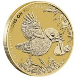 С рождением ребенка! — Австралия — бронзовая монета + марка в подарок
