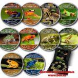 Цветные земноводные (лягушки) — Острова Кука — 2000 (2014) — набор из 10 монет