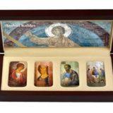 Андрей Рублев — Православные святыни (иконы)  — Ниуэ — набор из 4 серебряных монет