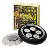 Великие мотоциклы 1930-х — Острова Кука — набор из 5 серебряных монет