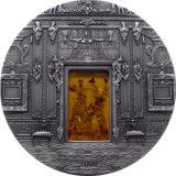 Янтарная комната — Санкт-Петербург — Палау — серебряная монета с вставкой янтаря