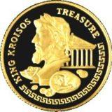 Сокровища царя Креса, Казахстан, 100 тенге — золотая монета