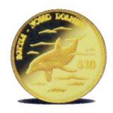 Дельфин — Острова Кука — золотая монета