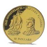 Корабль «Инвестигатор» и Мэтью Флиндерс — Фиджи — золотая монета