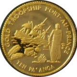Корабли в Порт-о-Пренсе — Тонга — золотая монета