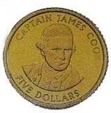 Капитан Джеймс Кук — Острова Кука — золотая монета