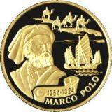 Марко Поло, Казахстан, 100 тенге — золотая монета