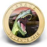 Динозавры: альбертозавр — 2010 — Канада — голографическая бронзовая монета