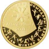 7-е зимние Азиатские Игры 2011 года, Казахстан, 100 тенге — золотая монета