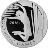 Прыжки с шестом, Казахстан, 100 тенге — серебряная монета