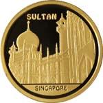 Мечеть Султан, Казахстан, 500 тенге — золотая монета