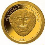 Маска Агамемнона — Либерия — золотая монета