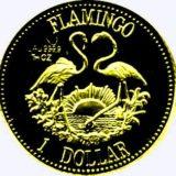 Фламинго — Багамы — золотая монета