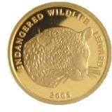 Леопард — Бенин — золотая монета