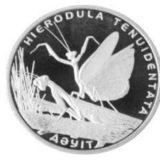 Богомол, Казахстан, 50 тенге — нейзильбер