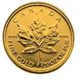 Кленовый лист (1993) — Канада — золотая монета