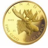 Волшебный лось — Канада — золотая монета