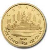 Морские путешественники (плот) — Канада — золотая монета