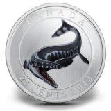 Доисторические создания — Тилозавр — 2013 — Канада — монета с эффектом флюоресценции