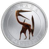 Доисторические создания — Кетцалькюатль — 2013 — Канада — монета с эффектом флюоресценции