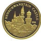 Замок Нойшванштайн (Neuschwesten Castle) — Конго — золотая монета