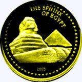 Египетский сфинкс — Конго — золотая монета