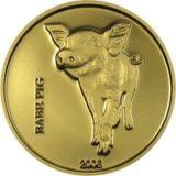 Поросенок — Конго — золотая монета
